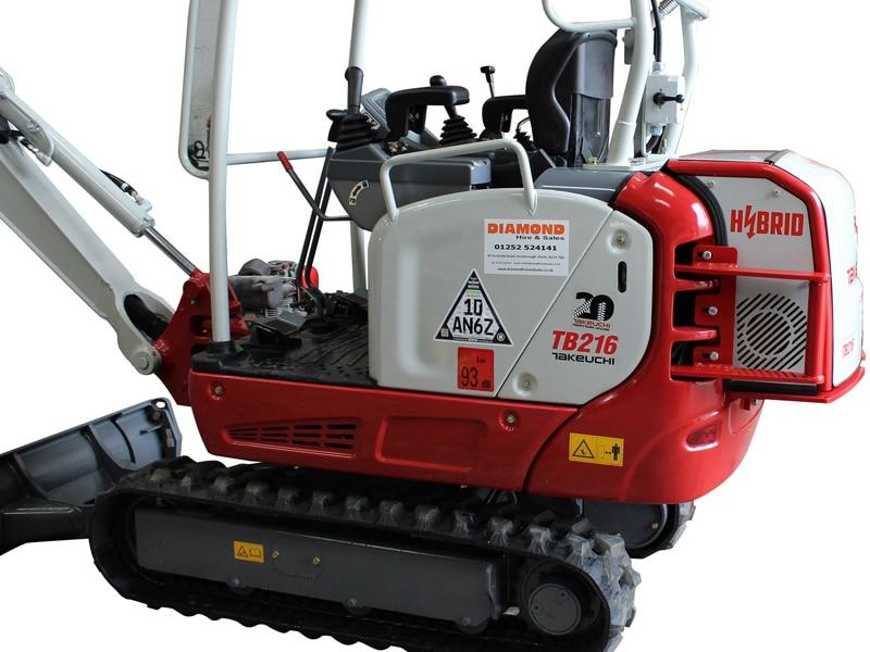 Takeuchi TB216 Diesel Electric Hybrid Mini Excavator